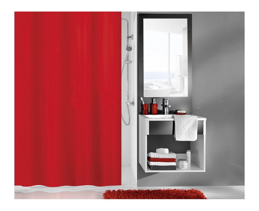 zas ona kito red 120x200 zas ony prysznicowe zdj cia pomys y inspiracje homebook. Black Bedroom Furniture Sets. Home Design Ideas