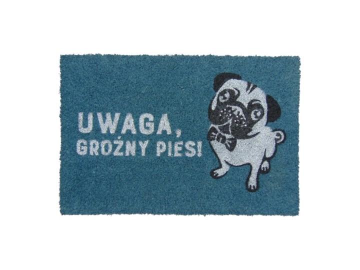 Wycieraczka do domu z napisem UWAGA, GROŹNY PIES!
