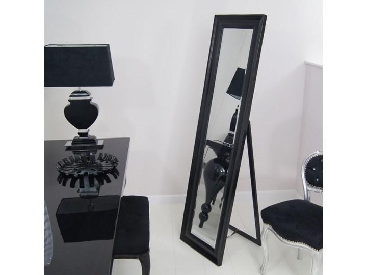 Lustro stojące, czarna, drewniana rama. szkło Prostokątne drewno Styl Klasyczny