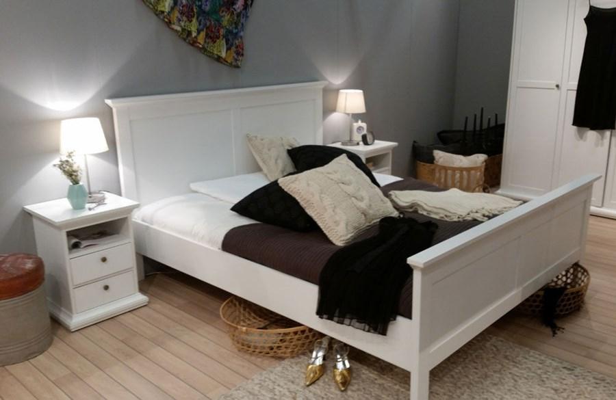 Romantyczne Białe łóżko Paris 140x200cm 140x200 Cm