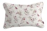 Dekoria Poszewka Gabi na poduszkę prostokątna, fioletowo-różowe kwiaty na kremowym tle, 60 x 40 cm, Mirella