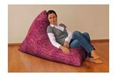 Dekoria Pufa-leżanka, bordowe wzory, 85x140x100 cm, Mirella
