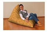 Dekoria Pufa-leżanka, na pomarańczowym tle wiatraczki, 85x140x100 cm, Kids/Baby do -30%