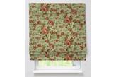 Dekoria Roleta rzymska Padva, na jasno-zielonym tle bordowe piwonie, szer.100 x dł.170 cm, Flowers