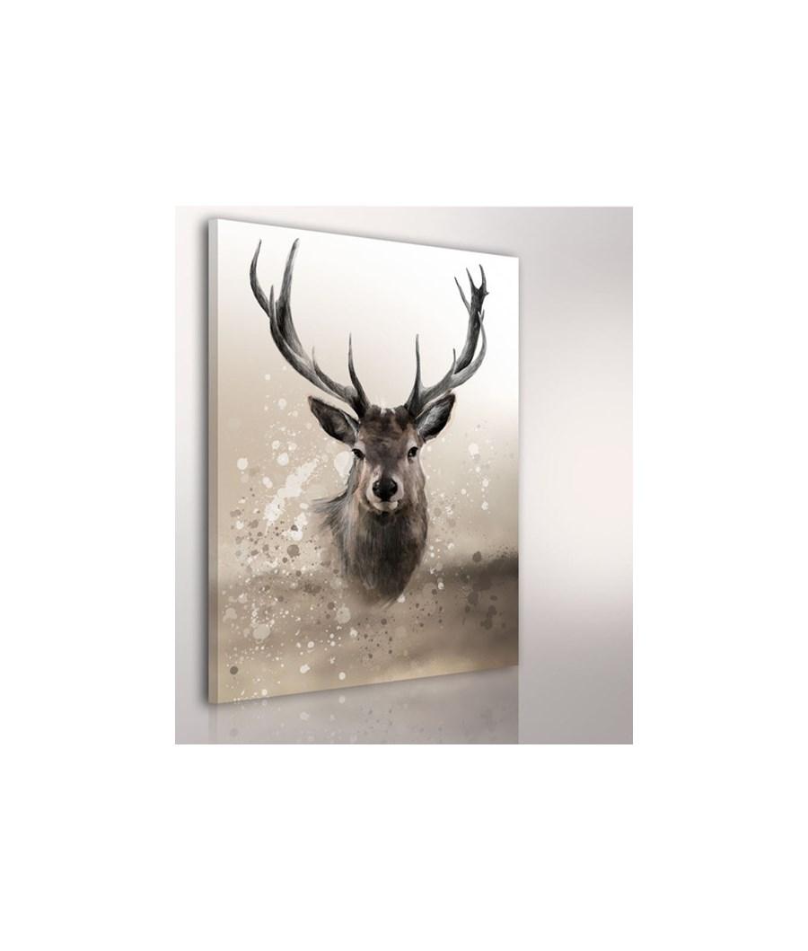 Obraz na p tnie jele 02 22 80x100cm obrazy zdj cia for Hirschbilder modern