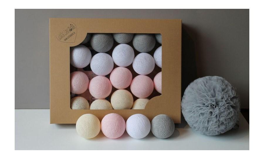 cotton balls white pastel 10 szt o wietlenie. Black Bedroom Furniture Sets. Home Design Ideas
