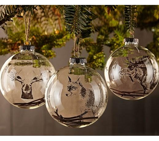 Dekoracyjne Szklane Kule 3 Sztuki Ozdoby Bożonarodzeniowe