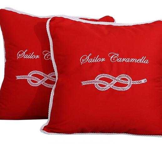 Poduszki Czerwone Sailor Caramella Poduszki Dekoracyjne Zdjęcia