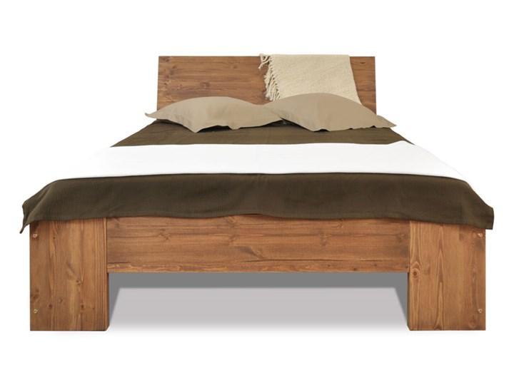 Łóżko Marika II - 140 drewno drewno Styl nowoczesny