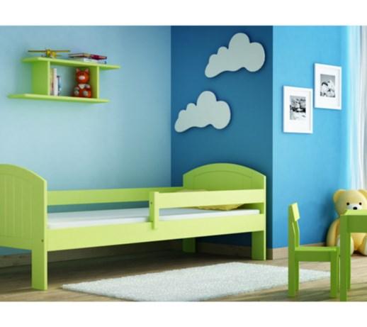 mikel zielony �243żko sosnowe dla dzieci 80x180 z