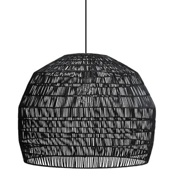 Ay illuminate Nama3 Ø72cm - czarna, rattanowa lampa wisząca