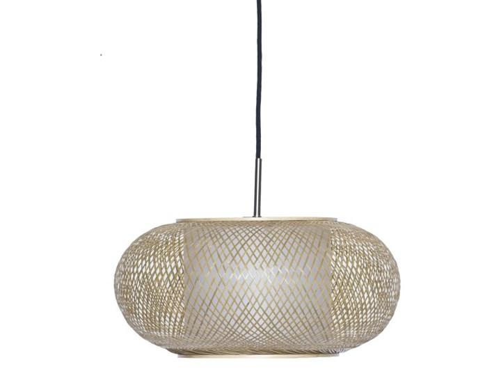 Ay illuminate Al Shade Ø40cm, ażurowa lampa wisząca z bambusa w kolorze naturalnym