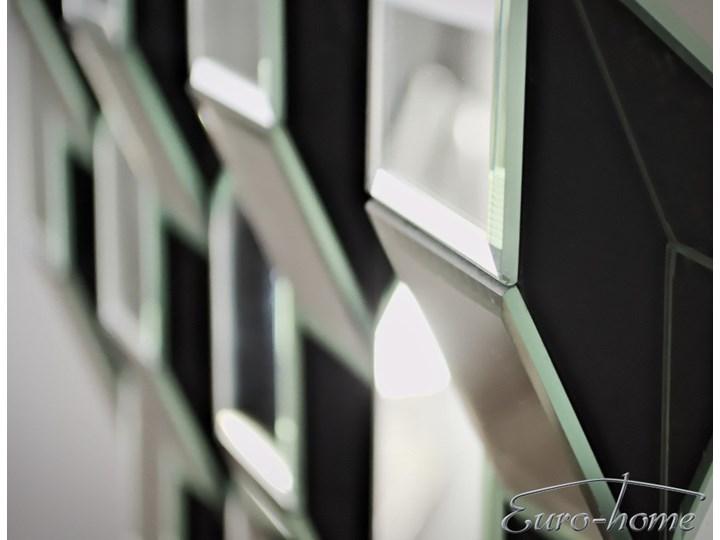 Lustrzana geometryczna dekoracja ATM019 Nieregularne Lustro bez ramy Ścienne Kolor Srebrny