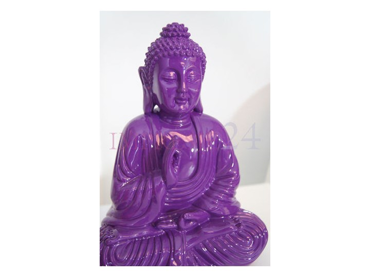 Deko figurka buddy, kolor fioletowy. Buddha Tworzywo sztuczne Wzór Orientalny