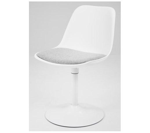 Mizag Obrotowe Krzesło Do Jadalni Boon Bori Biało Szare Noga Biała
