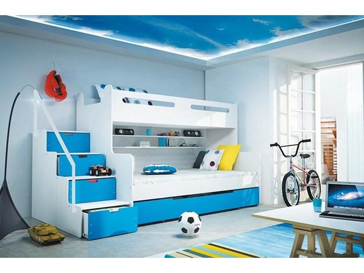 łóżko Piętrowe Max 3 200120 Biało Niebieski