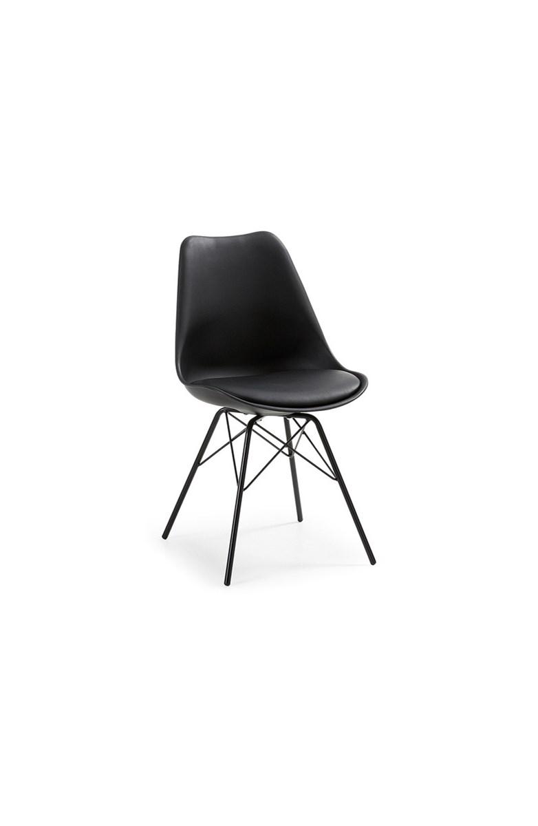 Laforma krzes o lars plastikowe czarne krzes a zdj cia pomys y inspiracje homebook - Zwarte eetstoel ...