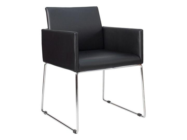 Krzesło Porto z podłokietnikami czarny