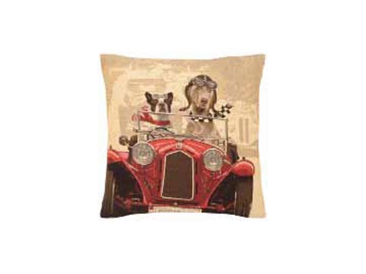 Oryginalna Poduszka Z Psami W Czerwonym Samochodzie
