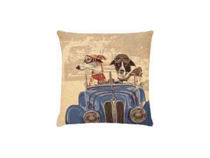 Oryginalna Poduszka Z Psami W Niebieskim Samochodzie