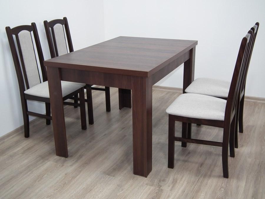 Zestaw Do Jadalni Stół S 44 80x120 Do 165 4 Krzesła Boss Vii