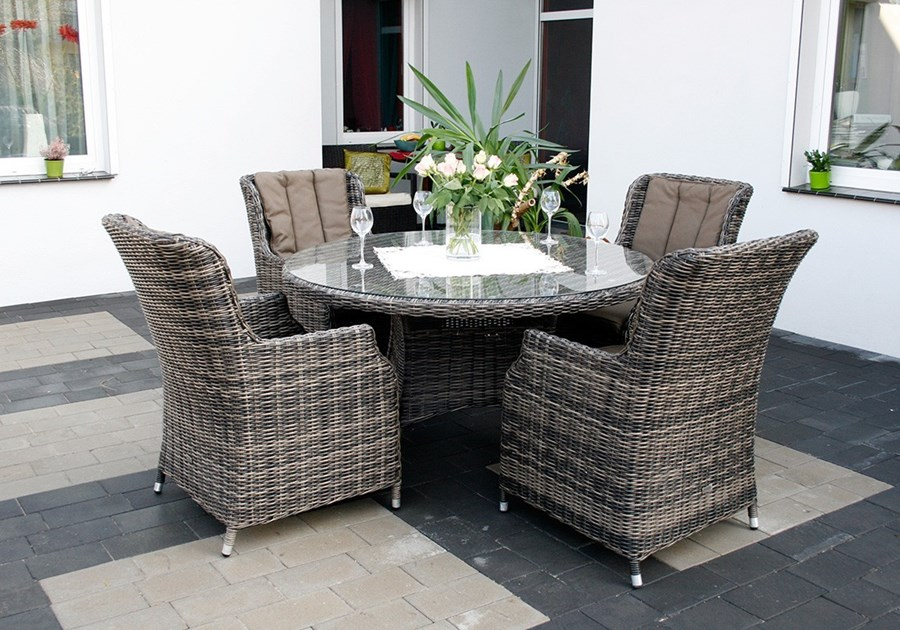 Ikea Meble Ogrodowe Z Technorattanu : PROWANSJA S4 zestaw stołowy meble ogrodowe z technorattanu stół