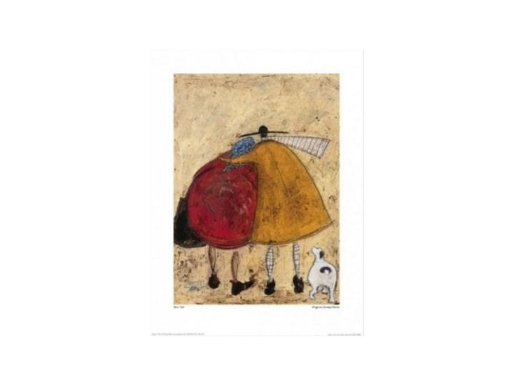 Sam Toft Hugs On The Way Home Pan Musztarda Doris Reprodukcja Love Obraz Obrazek Plakat Z Psem Zakochani Plakaty Grafiki Grafika Przytulan