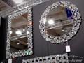 LUSTRO 13tm171M 70x70cm Styl klasyczny Okrągłe Ścienne szkło Styl nowoczesny