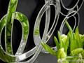 LUSTRO DEKORACYJNE 12TM053 80x120cm ścienne Nieregularne szkło Styl Glamour