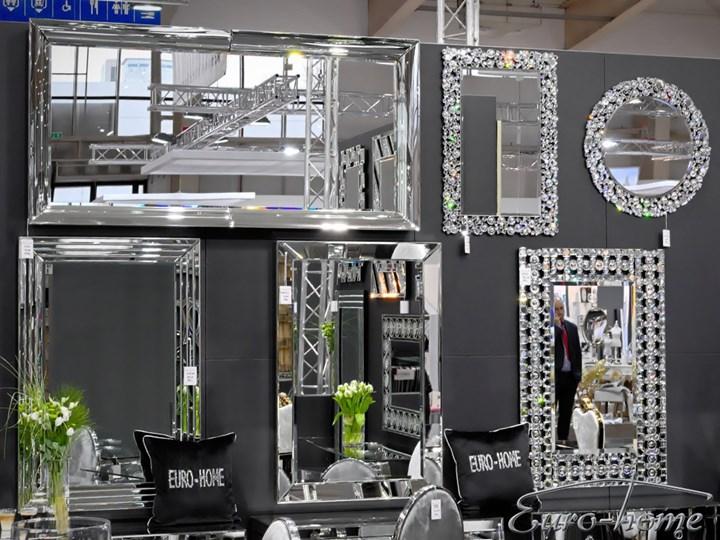 Lustro z kryształkami w stylu glamour  60 x 90 cm 13tm171PM Lustro z ramą Prostokątne Ścienne Kolor Srebrny