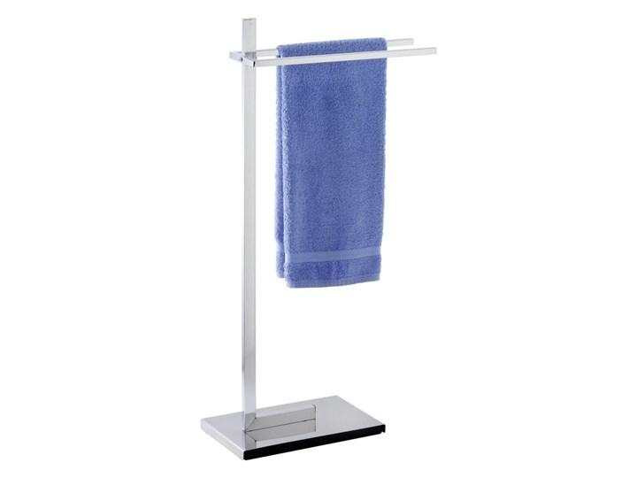 Łazienkowy stojak na ręczniki QUADRO - 2 ramienny, WENKO Stal Podwójny Wieszaki na ręczniki Metal Wolnostojący Styl klasyczny
