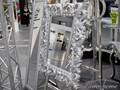LUSTRO PU-058 80x100cm SREBRNE ścienne szkło metal Prostokątne Styl Glamour