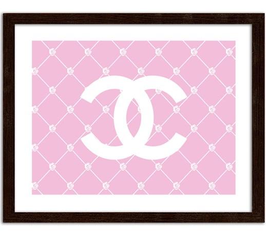 Chanel Na Różowym Tle Obrazy W Ramie Obrazy Zdjęcia Pomysły