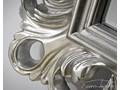 LUSTRO PU-149 D 88x188cm SREBRNE Ścienne szkło Prostokątne metal Styl Glamour