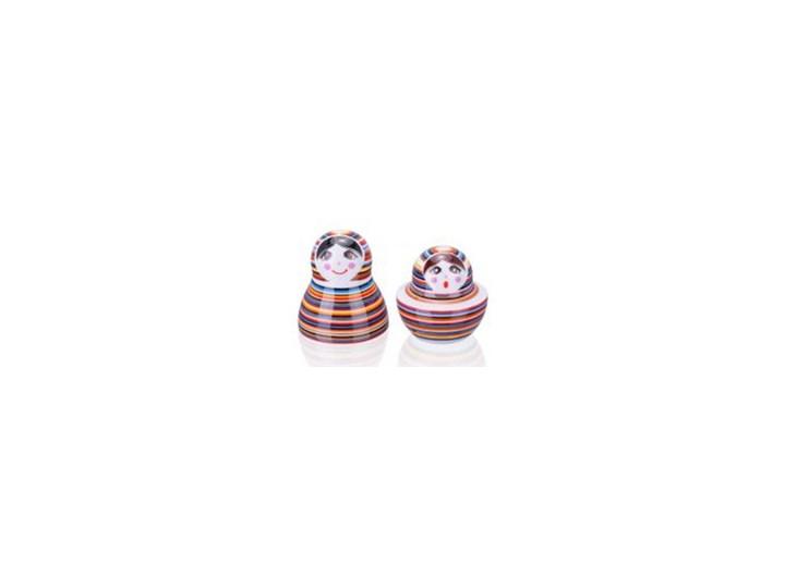 Porcelanowa solniczka i pieprzniczka - Matrioszka Paski Zestaw do przypraw Kategoria Przyprawniki Ceramika Kolor Wielokolorowy