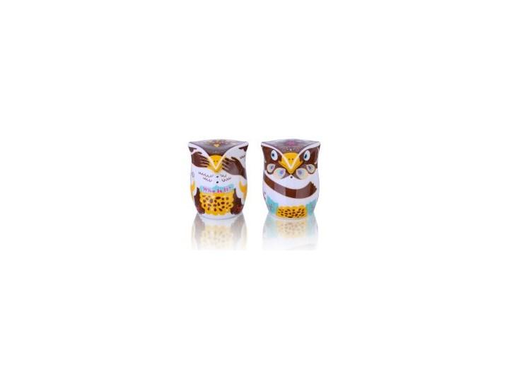 Porcelana solniczka i pieprzniczka - Sówki A Kuku Zestaw do przypraw Kategoria Przyprawniki Ceramika Kolor Wielokolorowy