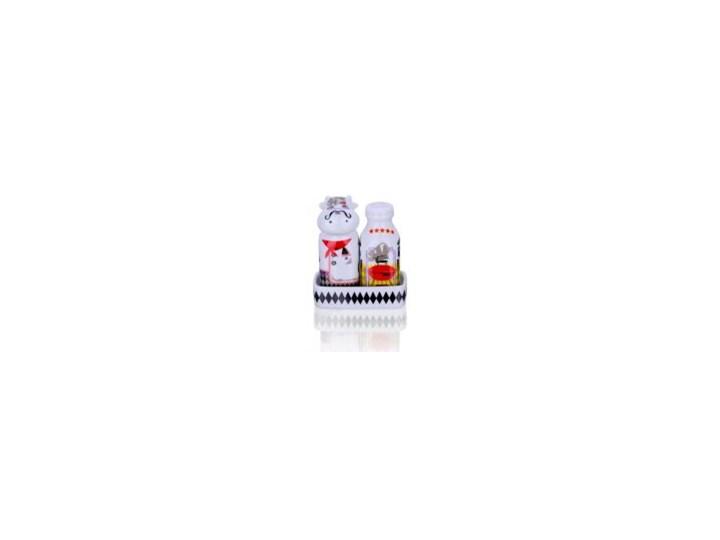 Zestaw solniczka i pieprzniczka - Królowie Grilla Zestaw do przypraw Ceramika Kategoria Przyprawniki Kolor Czerwony