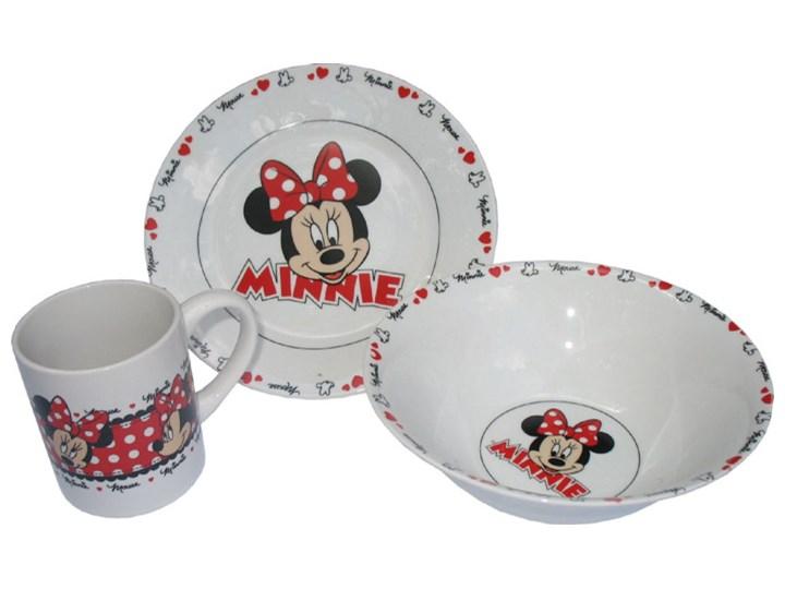 Zestaw śniadaniowy Porcelana Disney Myszka Minnie Naczynia Dla