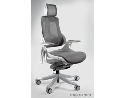 Krzesło biurowe STAKROGE skóra ekol.brąz Krzesła i fotele