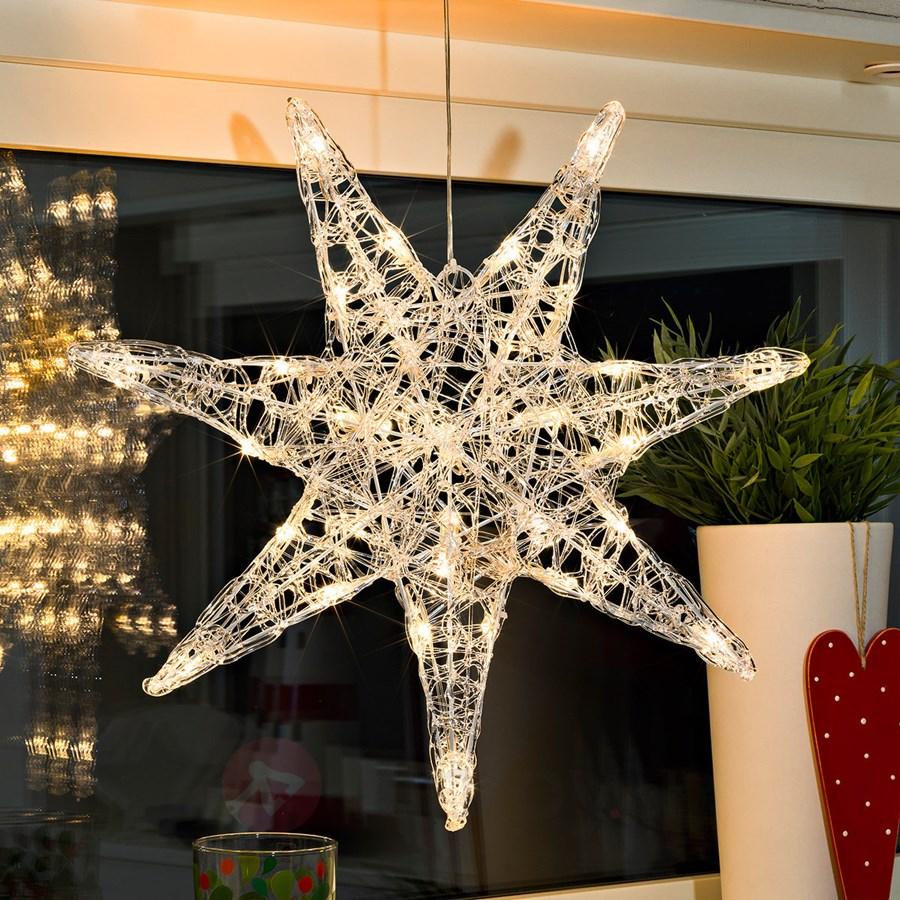 siedmioramienna akrylowa gwiazda led iselin o wietlenie. Black Bedroom Furniture Sets. Home Design Ideas