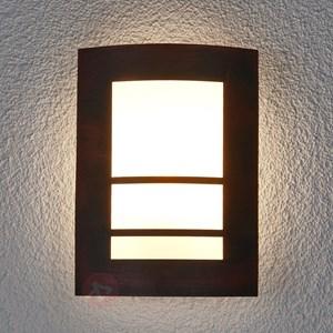 Rdzawa zewn trzna lampa cienna katalea lampy ogrodowe - Lamparas exteriores modernas ...