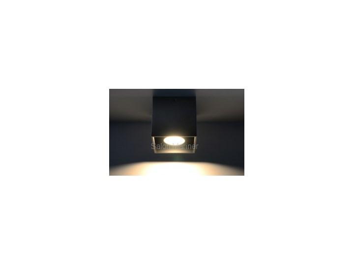 Styl nowoczesny Sollux Lampa Plafon QUAD 1 czarny SL.0022 Plafony