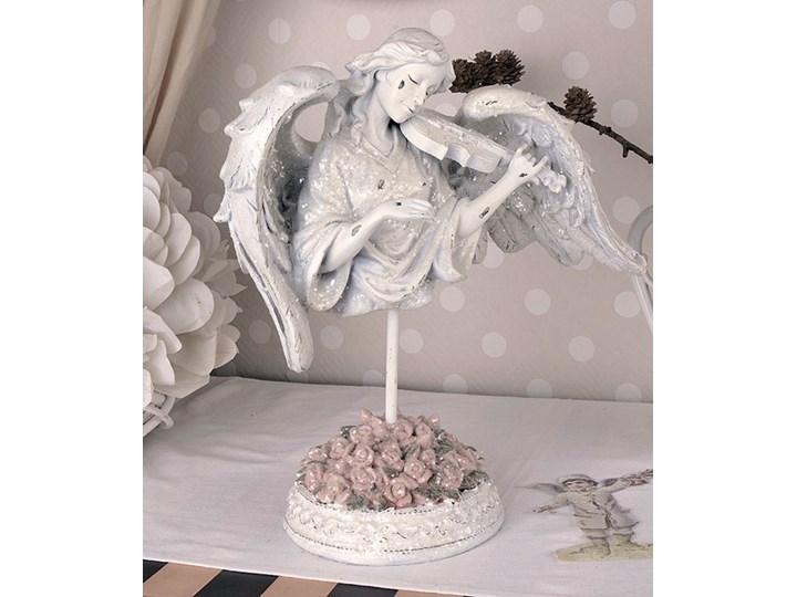 Anioł Ze Skrzypcami Figura W Stylu Shabby Chic