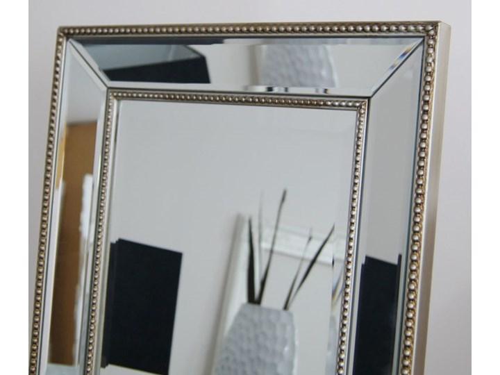 Lustro stojące w lustrzanej ramie, szlifowane fazą. Styl prowansalski płyta MDF drewno szkło Prostokątne Styl Nowoczesny