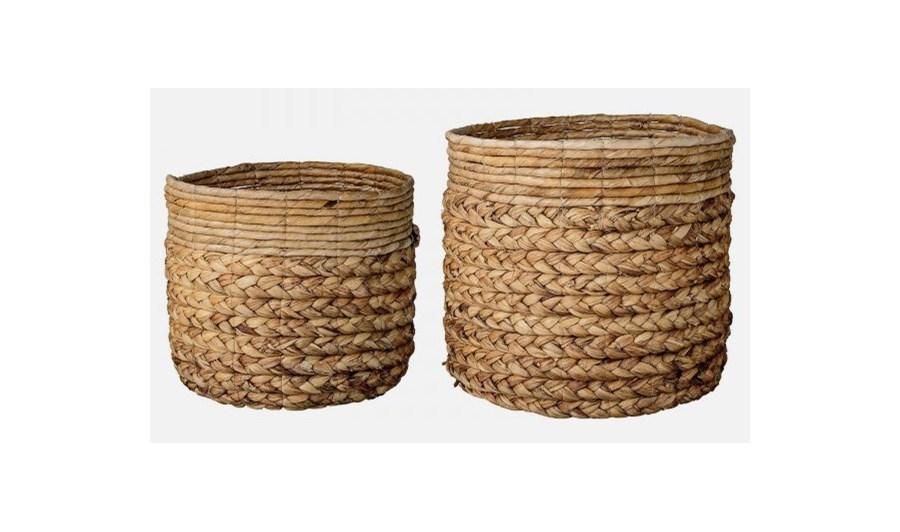 How To Weave A Basket From Banana Leaves : Bloomingville zestaw koszyk?w waterhyacinth set
