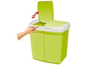 Kosz do segregacji śmieci ECOBIN 50L, zielony