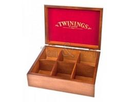 Skrzynka drewniana na herbatę 6 przegródek Twinings 515