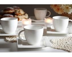 Serwis kawowy AMBITION KUBIKO na 6 osób (12 el.)-- biały