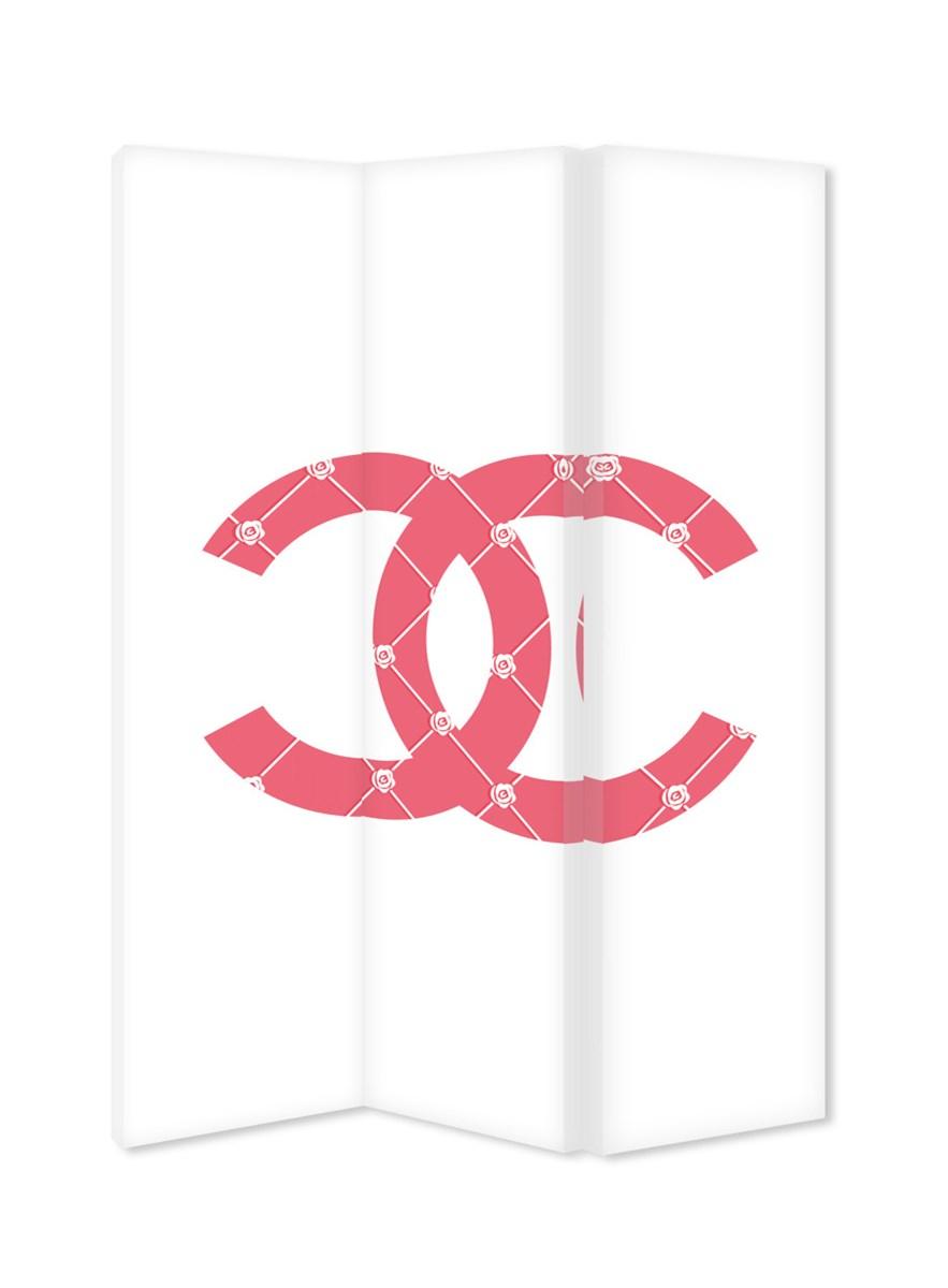 Chanel Logo Parawan Ozdobny Dwustronny Na Płótnie Canvas