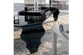 Stolik szklany King Bath Vendo czarny kod: TO-SCB-205.CZARNY - do kupienia: www.superwnetrze.pl